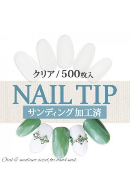 500PCS Artificial Oval Nail Tips Fake Nail Set 500片椭圆假甲片