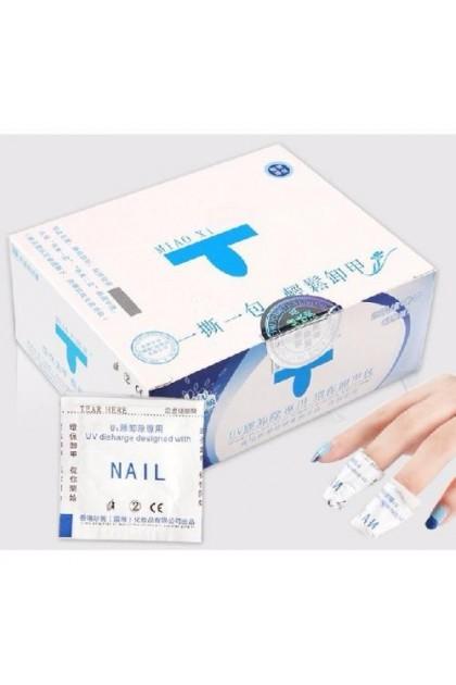 Acrylic Gel Cotton Pads Tissue Remover 50pcs/ 200pcs box For Remove Gel Color Acrylic Nail 美甲甲油胶卸甲包