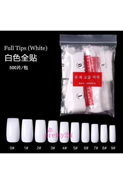 500PCS Artificial Nail Tips Fake Nail Set 500片全贴/半贴假甲片