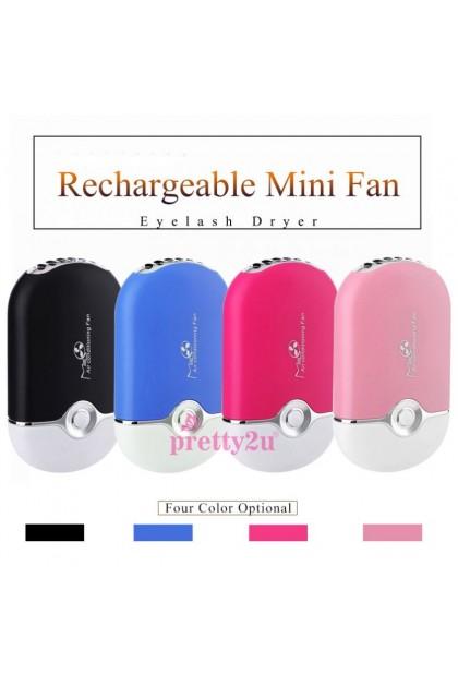 Portable USB Mini Fan Eyelash Dryer Air Blower Glue Fast Dry False Eye Lash Extension Mascara Dryers Nail Makeup Tools