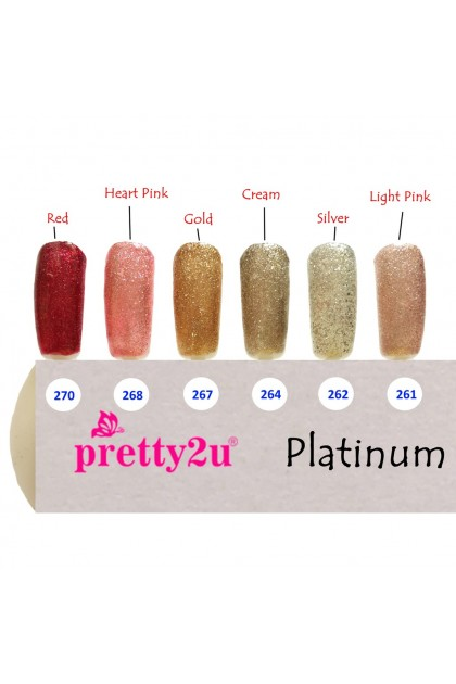 Pretty2u Platinum Series Soak Off Gel Polish 10ml