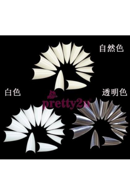 500PCS Korea Artificial Sharp Nail Tips Fake Nail Set 500片尖型假甲片