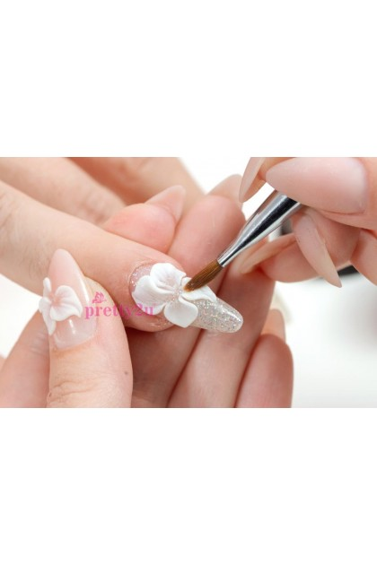 Acrylic Powder For Extension Nail 3D Nail Art Clear/ Pink/ White 美甲延长水晶粉 透明/粉色/白色