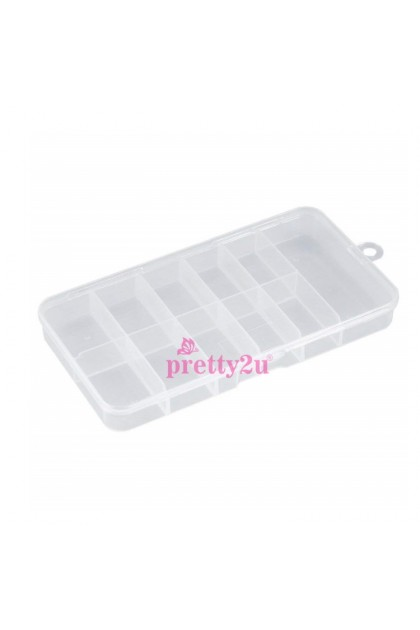 100PCS Nail Tips Storage Case 11 Compartment Artificial Nail Box 指甲片收纳盒